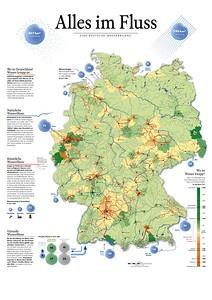 12 »Alles im Fluss – Eine Deutsche Wasserbilanz«: Übersicht über Wasserflüsse in Deutschland (Stand 2013)