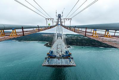 15 Bau der Yavuz-Sultan-Selim-Brücke, Istanbul (TR) 2016, Michel Virlogeux, Jean-François Klein