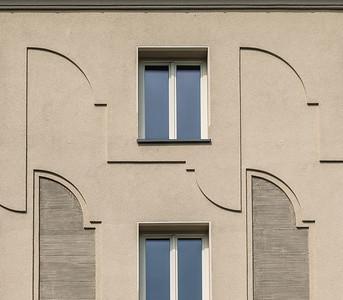 Ismaningerstraße. Relief Fassade. Foto © Michael Heinrich