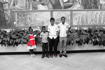 Family portrait at DIA