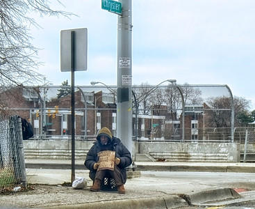 HOMELESS MAN DETROIT