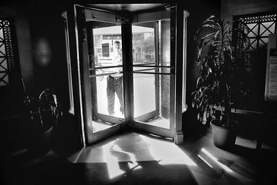 Revolving Door in Illitch Building Detroit