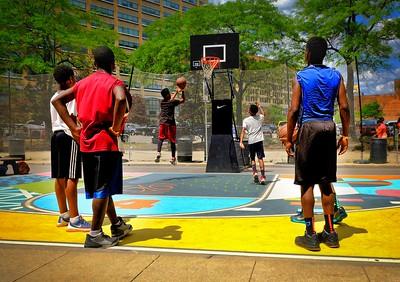 Basketball downtown Detroit