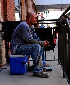 Workman in Detroit