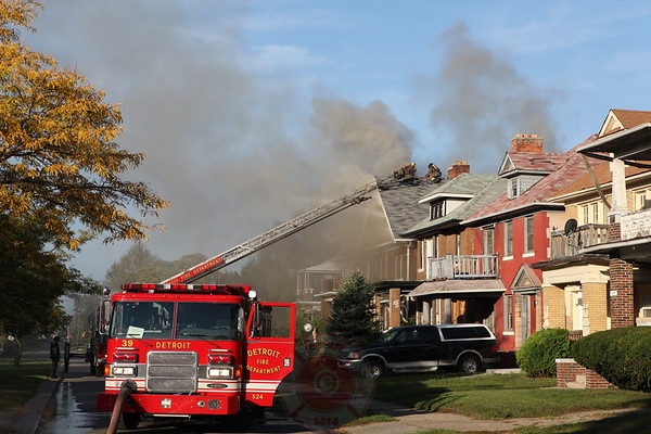 Detroit Fire Department Box Alarm 1704 Glynn Court September 2012