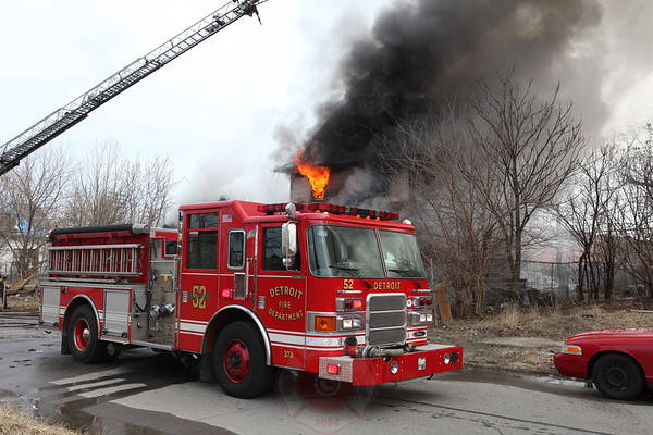 Detroit Fire Department Box Alarm March 2013