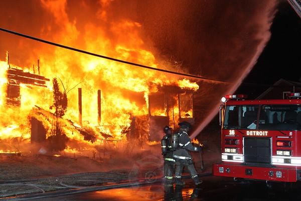 Detroit Fire Department Box Alarm April 2013