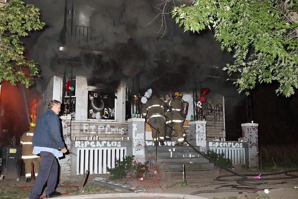 Detroit Fire Department Box Alarm Waldo and Freer September 2012
