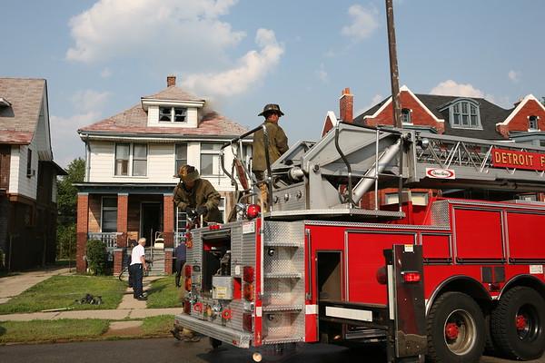 Detroit Fire Department Box Alarm 1098 E. Grand Blvd. July 27, 2008