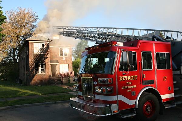 Detroit Fire Department Dwelling Fire 14720 Petoskey  May 25, 2008