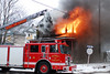 Detroit, MI Box Alarm at 3402 Sheridan. Ladder 10 going to work on the fire. Photo By: Adam Alberti