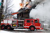 Detroit Ladder 10 works at 3402 Sheridan on January 27, 2007. Photo By: Adam Alberti