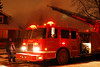 Detroit Ladder 31 working at a smokey fire at 2663 Algonquin near Vernor January 29, 2007. Photo By: Adam Alberti