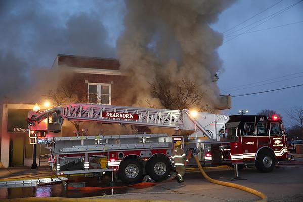 Dearborn Multiple Alarm Fire 1005 Mason Howell's Bar & Grill  April 2014