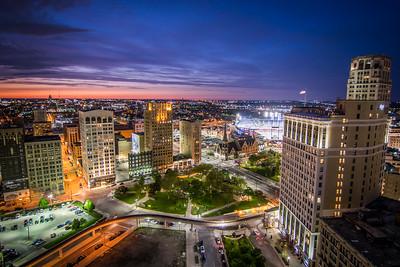 Sunset From Detroit City Apartments - Detroit Tigers SMZ_