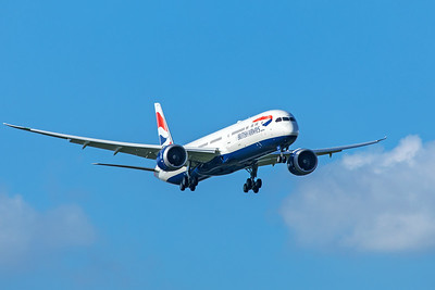 British Airways Boeing 787-10 Dreamliner G-ZBLB 7-7-20 4