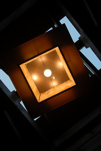Looking up at the light fixture at the rest stops. Very nice rest stops indeed!!