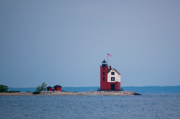 Old Round Island Point Lighthouse