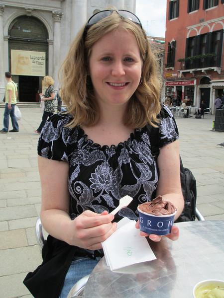 Eating gelato!