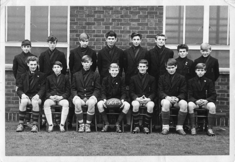 DGS U15 XV team 1965