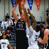 Roosevelt junior guard Daniel Luckett, Dowling sophomore center Ted Brown