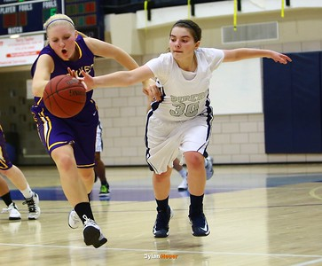 Waukee senior guard Taylor Wingert, Roosevelt junior guard Taylor Silvestrini