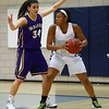 Roosevelt junior guard Maleika Carter, Waukee sophomore forward Reilly Jacobson