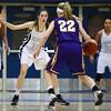 Roosevelt freshman guard Mia Rosener, Waukee freshman guard Carliee Littlefield