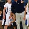 Roosevelt head coach Chris Cundiff, Roosevelt junior guard Taylor Silvestrini