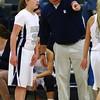 Roosevelt head coach Chris Cundiff, Roosevelt junior guard Taylor Silvestrini