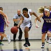 Roosevelt junior guard Teanna Lewis, Waukee sophomore forward Reilly Jacobson, Waukee freshman guard Carliee Littlefield