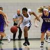 Roosevelt junior guard Teanna Lewis, Waukee sophomore forward Reilly Jacobson, Waukee freshman guard Carliee Littlefield