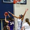 Roosevelt junior center Meredith Burkhall, Waukee sophomore forward Reilly Jacobson