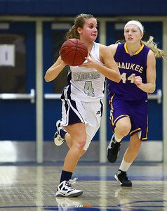Roosevelt junior guard Alexa Pitz, Waukee senior center Christina Behrens