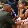 Waukee head coach Chris Guess, Waukee senior center Sarah Ripperger