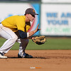 Cascade shortstop Derek Lieurance fields a grounder during the second inning in a Class 2A Semifinals game at Principal Park in Des Moines, Iowa on Thursday, July 30, 2015. (Photo by Dylan Heuer/Iowa Cubs)