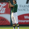 IC West's Kevin Delaney celebrates after reaching second base in the first inning in the Class 4A State Championship at Principal Park in Des Moines, Iowa on Saturday, August 1, 2015. (Photo by Dylan Heuer/Iowa Cubs)