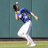 North centerfielder Collin Guinn catches a fly ball during the fifth inning in a Class 4A Quarterfinals game at Principal Park in Des Moines, Iowa on Wednesday, July 29, 2015. (Photo by Dylan Heuer/Iowa Cubs)