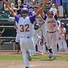 Waukee's Bryce Hingst welcomes Walker McDonald at home plate as they celebrate their 6-5 walk-off victory over North Scott in a Class 4A Quarterfinals game at Principal Park in Des Moines, Iowa on Wednesday, July 29, 2015. (Photo by Dylan Heuer/Iowa Cubs)