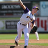 Waukee starter Matt Mullenbach pitches during the second inning in a Class 4A Quarterfinals game at Principal Park in Des Moines, Iowa on Wednesday, July 29, 2015. (Photo by Dylan Heuer/Iowa Cubs)