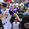 Waukee's Matt Mullenbach watches his walk-off, three-run triple during the seevnth inning in a Class 4A Quarterfinals game at Principal Park in Des Moines, Iowa on Wednesday, July 29, 2015. (Photo by Dylan Heuer/Iowa Cubs)