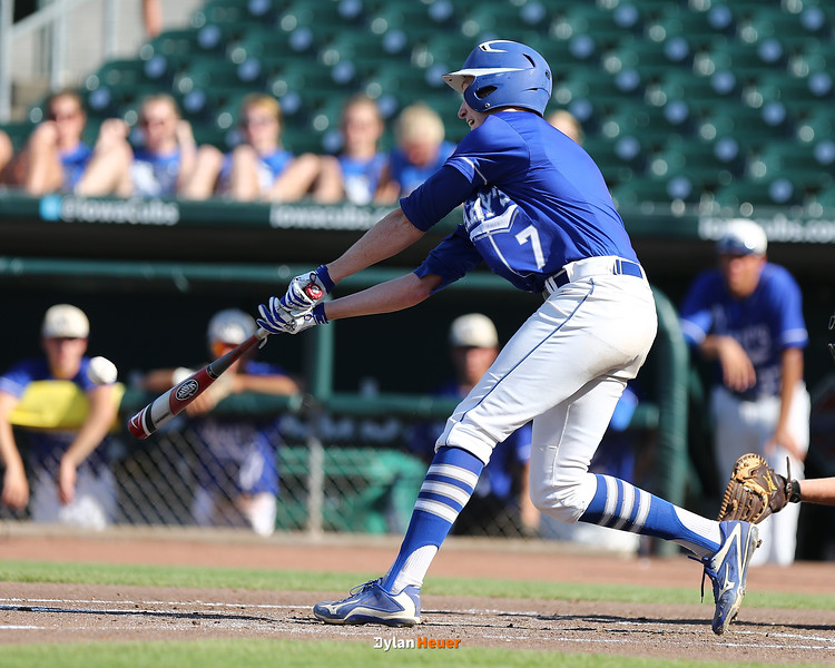 Action from the 1A Quarterfinals between St. Mary (Remsen) and Highland (Riverside) at Principal Park on July 22, 2016 in Des Moines, Iowa.