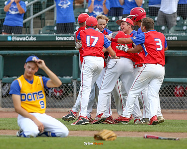 Action from the 1A Semifinals between Don Bosco and West Sioux at Principal Park on July 28, 2016 in Des Moines, Iowa.