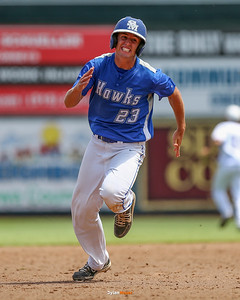 Action from the 1A Semifinals between St. Mary's and Newman Catholic at Principal Park on July 28, 2016 in Des Moines, Iowa.