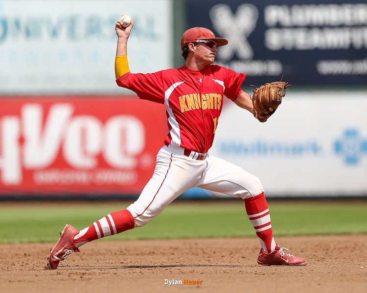 Action from the 1A Finals between Kuemper Catholic and Clear Lake at Principal Park on July 30, 2016 in Des Moines, Iowa.