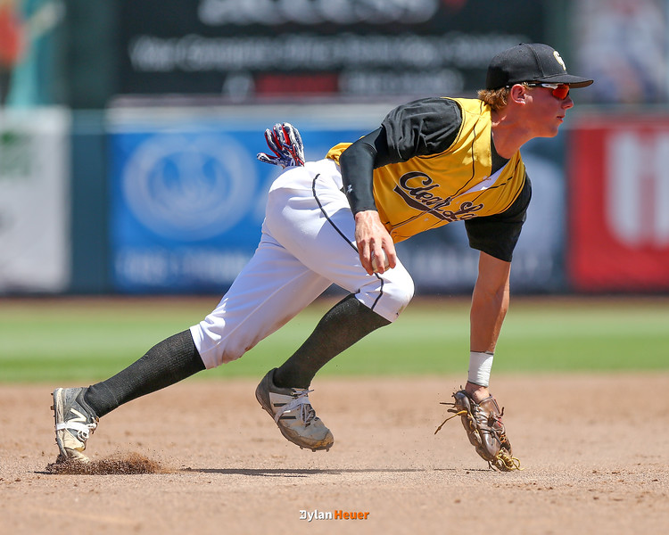 Action from the 2A Quarterfinals between Denver and Clear Lake at Principal Park on July 25, 2016 in Des Moines, Iowa.