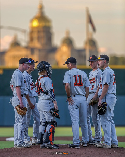 Action from the 2A Semifinals between Pleasantville and Kuemper Catholic at Principal Park on July 28, 2016 in Des Moines, Iowa.