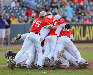 Action from the 3A Finals between Harlan and Carlisle at Principal Park on July 30, 2016 in Des Moines, Iowa.
