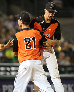 Action from the 4A Finals between Iowa City West and Prairie Cedar Rapids at Principal Park on July 30, 2016 in Des Moines, Iowa.