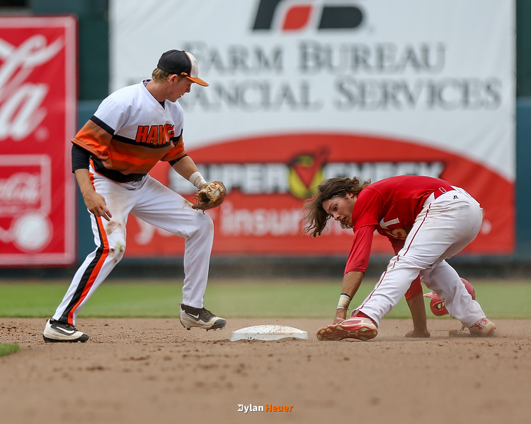 Action from the 4A Quarterfinals between Davenport West and Prairie at Principal Park on July 27, 2016 in Des Moines, Iowa.